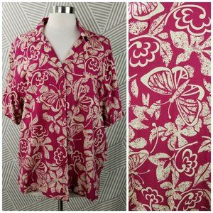 Erika Plus 2X 18/20 Hawaiian Aloha Floral Shirt